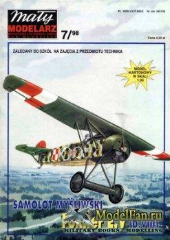 Maly Modelarz №7 (1998) - Samolot mysliwski Fokker E.V (D.VIII)