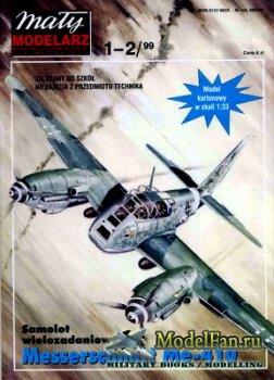 Maly Modelarz №1-2 (1999) - Samolot Messerschmitt Me-410