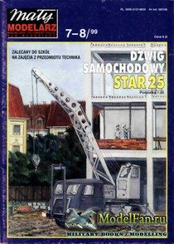 Maly Modelarz №7-8 (1999) - Dzwig samochodowy STAR 25