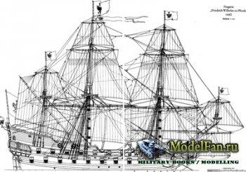 Чертежи парусных кораблей (Foka 1912, Fregat, Friedrich Zu Pferde 1680, Gal ...