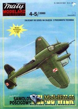 Maly Modelarz №4-5 (2000) - Samolot poscigowy PZL-38