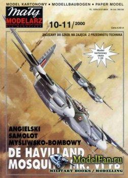 Maly Modelarz №10-11 (2000) - Samolot De Havilland Mosquito Mk.VI FB