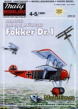 Maly Modelarz №4-5 (2001) - Samolot mysliwski Fokker Dr.1