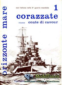 Edizioni Bizzarri - Orizzonte Mare 1 - Corazzate Classe Conte di Cavour