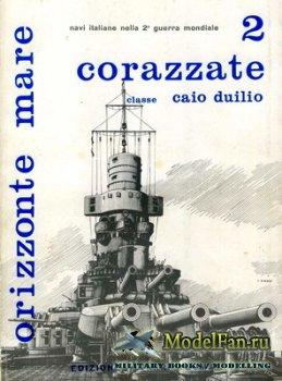 Edizioni Bizzarri - Orizzonte Mare 2 - Corazzate Classe Caio Duilio