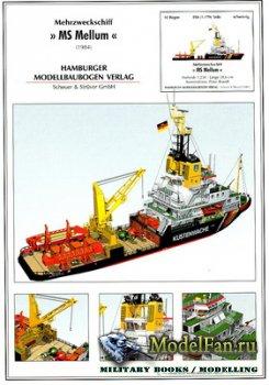 Hamburger Modellbaubogen Verlag (HMV) - MS Mellum (1984)