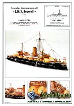 Hamburger Modellbaubogen Verlag (HMV) - SMS Beowulf (1892)