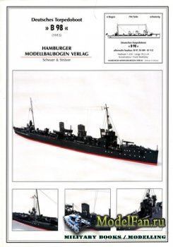 Hamburger Modellbaubogen Verlag (HMV) - Deutche Torpedoboot B 98 (1915)