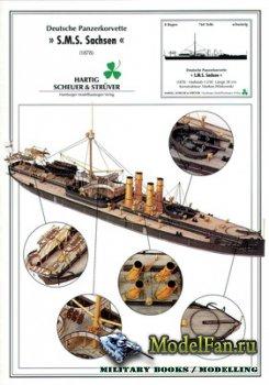 Hamburger Modellbaubogen Verlag (HMV) - Deutsche Panzerkorvette SMS Sachsen ...