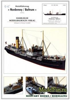 Hamburger Modellbaubogen Verlag (HMV) - Norderney / Baltrum (1915)