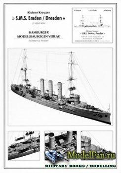 Hamburger Modellbaubogen Verlag (HMV) - S.M.S. Emden / Dresden (1910/1908)
