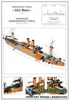 Hamburger Modellbaubogen Verlag (HMV) - U.S.S. Maine (1895)