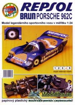 Mega Graphic - Porsche 962C Repsol Brun