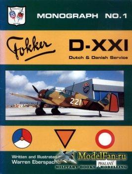 Phalanx - Monograph №1 - Fokker D-XXI. Dutch & Danisch Service