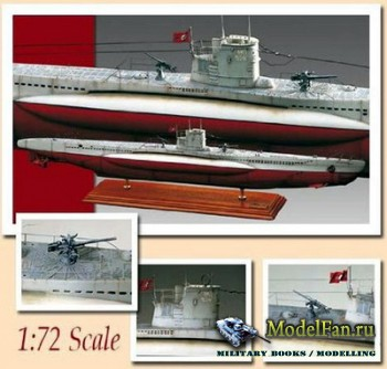 U-Boat Type VII C - 1-72 Scale Paper Model