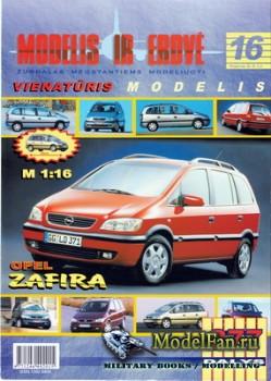 Modelis ir Erdve №16 - Opel Zafira