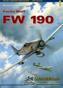 Kagero - Monografie 1 - Focke Wulf Fw 190 (Vol.1)