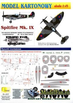 Quest - Model Kartonowy №7 - Spitfire Mk.IX