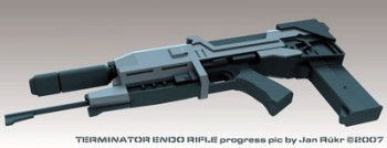 Автомат из фильма Terminator-2 - Endo-Rifle