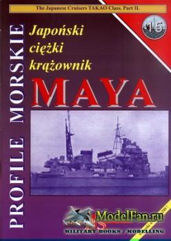Profile Morskie 15 - Japonski Ciezki Krazownik Maya
