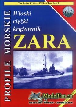Profile Morskie 17 - Wloski Ciezki Krazownik Zara