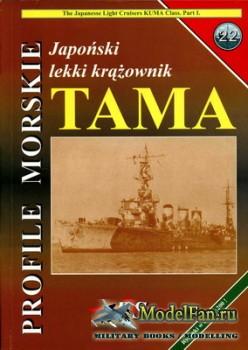 Profile Morskie 22 - Japonski Lekki Krazownik Tama