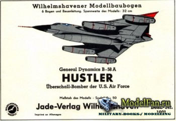 Wilhelmshavener Modellbaubogen - General Dynamics B-58A Hustler