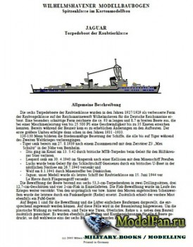 Wilhelmshavener Modellbaubogen - Jaguar Torpedoboot