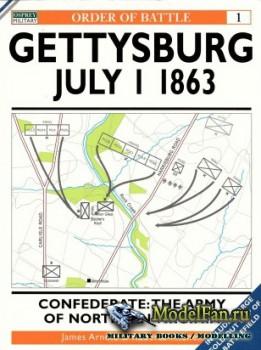 Osprey - Order of Battle 1 - Gettysburg July 1 1863 Confederate