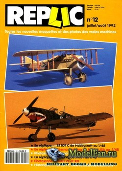 Replic №12 (1992) - Bf-109C, Cessna Bird Dog, SPAD VII, JG77