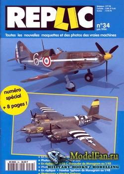 Replic №34 (1994) - Devoitine D-520, B-26, Hawker Typhoon