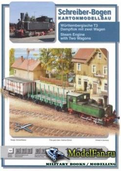 Schreiber-Bogen - Паровоз Т3 с двумя вагонами