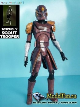 Clone Wars Commander Jet Scouttrooper (Star Wars)