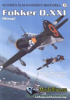 Suomen Ilmavoimien Historia №3B -  Fokker D.XXI (Wasp)