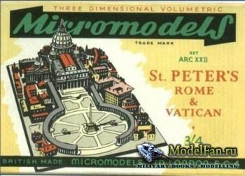 Micromodels - St.Peters Rome & Vatikan