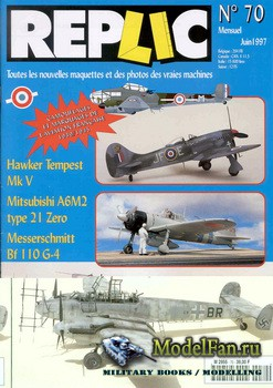 Replic №70 (1997) - Hawker Tempest Mk V, Zero type 21, Me-110G-4, Frenches