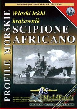 Profile Morskie 43 - Wloski Lekki Krazownik Scipione Africano