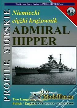Profile Morskie 50 - Niemiecki Ciezki Krazownik Admiral Hipper