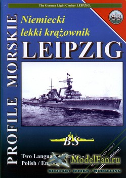 Profile Morskie 58 - German Light Cruiser Leipzig