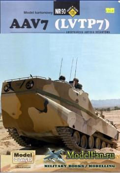 ModelCard №90 - AAV7/LVTP  (перекрас в пустынном камуфляже)