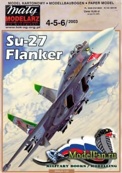 Maly Modelarz №4-5-6 (2003) - Su-27 Flanker (cobra) (Перекрас)