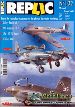 Replic №102 (2000) - Fairey Battle, DH Mosquito, Me-163