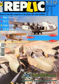Replic №140 (2003) - Blohm & Voss BV 222, PZL P-11C, A-26K Invader, Technic - Wheels