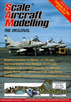 Scale Aircraft Modelling (July 2002) Vol.24 №05 (Falklands Air War)