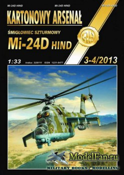 Halinski - Kartonowy Arsenal 3-4/2013 - Mi-24D Hind