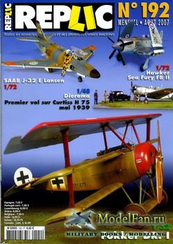 Replic №192 (2007) - SAAB Lansen, Fokker DR. I, Curtiss H-75, Sea Fury