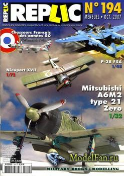 Replic №194 (2007) - P-38, Frenches, Zero, Nieuport XVII