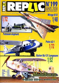Replic №199 (2008) - Potez 62-1, Bucker Bu-131, Corsair, Mirage III O