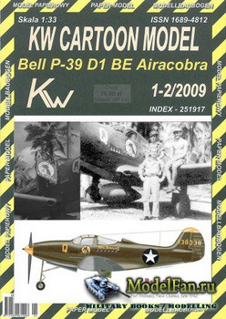 Bell P-39 D1 Airacobra USAAC Lt.Don C McGee (Перекрас KW Cartoon Model 01-0 ...