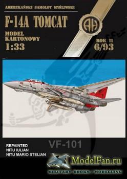 Halinski - Model Kartonowy 6/1993 - F-14A Tomcat VF-101 (Перекрас)